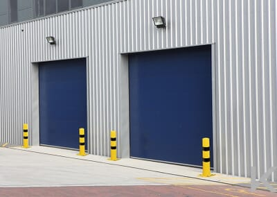 Insulated Blue color shutter
