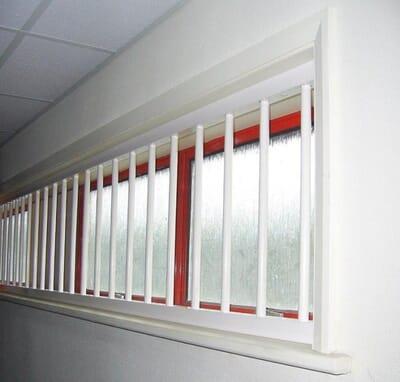 White Window Bars